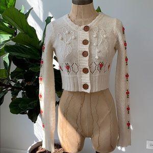 Cropped Long Sleeve Cardigan